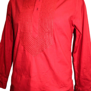 Wine Fitted Long Sleeve Shirt